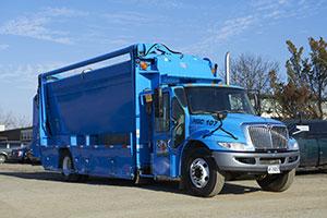 Municipal Recycling Pickup Truck
